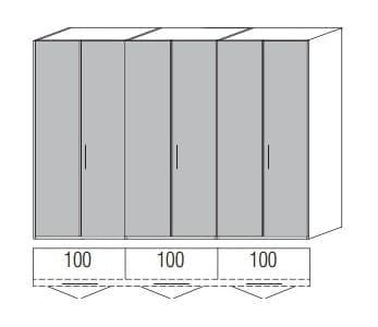 Loddenkemper Schlafzimmer Multi Comfort Standardschränke 6-türig