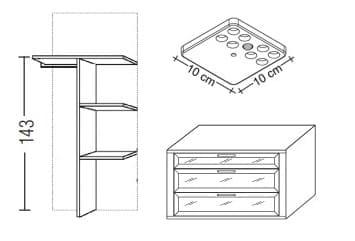 Loddenkemper Schlafzimmer Multi Comfort Zusatzausstattungen Zubehör-Set 2