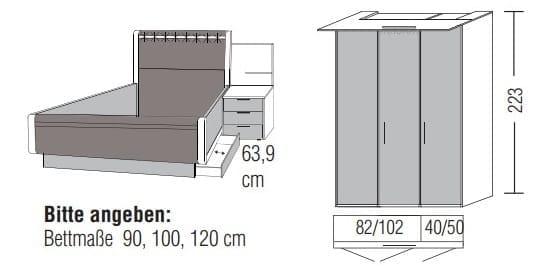 Loddenkemper Schlafzimmer Multi Comfort Zusammenstellungen mit Bettanlage CR