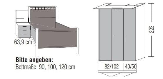 Loddenkemper Schlafzimmer Multi Comfort Zusammenstellungen mit Bettanlage DL