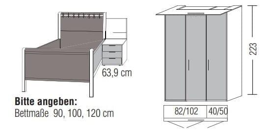 Loddenkemper Schlafzimmer Multi Comfort Zusammenstellungen mit Bettanlage DR