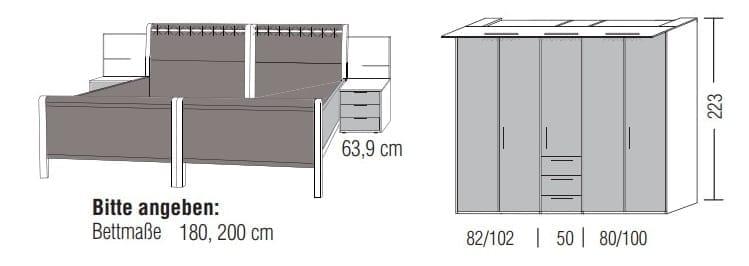 Loddenkemper Schlafzimmer Multi Comfort Zusammenstellungen mit Bettanlage D