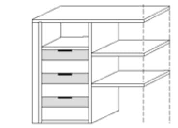 Nolte Germersheim Zubehör Zubehör Schwebetürenschränke für Schrankelemente mit 90 cm Breite